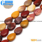 Natural13x18mm Drip Gemstone Mookaite DIY Crafts Jewelry Making Loose Beads 15""