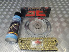 HYOSUNG GT 125 R EFI JT GOLD UPRATED CHAIN + SPROCKET S KIT INCREASES TOP SPEED
