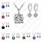 Romantic Jewelry 925 Sterling Silver AAA CZ Pendant Women Wedding Jewelry Sets