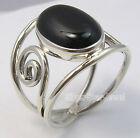 925 Sterling Silver CABOCHON BLACK ONYX Gemstone FASHIONABLE Men's Ring Any Size