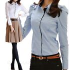 Business Shirt Corporate Stylish Shirt Long Sleeve Blouse Cotton Fitted Top Size