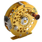 Versatile Aluminum 1:1 Right Hand Fly Ice Fishing Reels Gold Disk Fly Reel Wheel