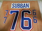 NHL Montreal Canadiens PK SUBBAN Name and Number KIT for WHITE Jersey NEW