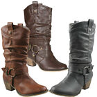 Refresh WILD-02 New New Women's Slouch Fashion - Mid-Calf Comfort Boot