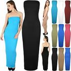 Womens Ladies Bandeue Boobtube Backless Strapless Jersey Bodycon Fit Maxi Dress