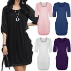 Summer Womens Slouch Dresses Celebrity Wedding Party Ladies T shirt Dress Size