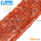 """4mm Square Smooth Gemstone DIY Jewelry Making Loose Beads 15"""" 3 Materials Select"""