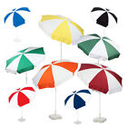 NEW 1.8m Various 2 Colour Patio / Garden / Pub / Promotional Parasol 180cm
