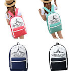 Ladies Girls Dot Lace Canvas Backpack Rucksack School Bag College Shoulder Bag
