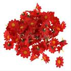 100Pcs Simulation Sunflower Daisy Silk Flower Head Wedding Party Home Decoration