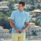FRUIT OF THE LOOM PREMIUM TIPPED SHORT SLEEVE POLO  7 COLOURS - UP TO 3XL - SS25
