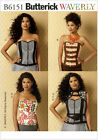 Butterick 6151 Sewing Pattern to MAKE Corsets Vest Belt Pocket Cosplay Steampunk