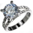 4.85CTW HUGH BRILLIANT CUT STONE - WEDDING ENGAGEMENT RING size 5,6,9,10
