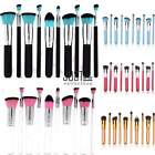 10tlg Professionelle Kosmetik Pinsel Makeup Brush Schminkpinsel Set Kit 8 Farbe