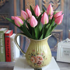 Home Craft Silk Flowers Wedding Tulip Decor Rose Plants Garden Single Party