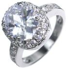 7.70CTW HUGE BRILLIANT OVAL STONE - HALO - ENGAGEMENT RING size 6,8,9
