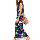 Women Summer Beach Dresses Ladies Boho Sexy Long Maxi Dress Sleeveless Party E1
