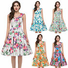 Vintage 50s 60s Rockabilly Pinup Swing Prom Ball Gown Evening Formal Party Dress