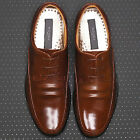 Excellent Mens Leather Motion Dress Lace Up Brown Shoes