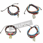 1 Pc Hot Anime Fairy Tail Hatsune Miku Synthetic Leather Bracelet Muti-Layer
