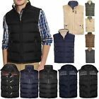 MENS PADDED QUILTED GILET BODY WARMER REVERSIBLE WINTER SLEEVELESS PUFFER JACKET
