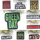 GREEN DAY Killers KISS Scorpions Music Iron on SEW Cloth Woven PATCH Rock BADGE