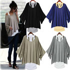 Hot Women Loose Top Batwing T-Shirt 2 PCS Blouse+Tank Casual Vest S M L XL XXL