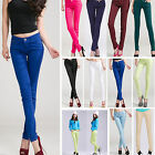 New Women Girl Jeans Pants Skinny Leg Embellished Stretch Slim-Fit 13 Colors Hot