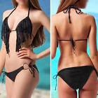 Tassel Cute Sexy Women Bikini Set Push-UP Padded Bra Swimwear Summer Swimsuit