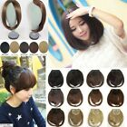 Clip Hair Extension Lady Brown Black Color Charming Clip On Bangs Fringe new 5t5