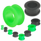 2 PAIRS tunnels silicone plugs stretchers kit ear gauges 9HQQ-SELECT SIZE 3-30MM