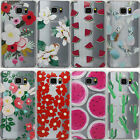 Fruit Pineapple Flowers Clear TPU Soft Case Skin For Samsung Galaxy Note 5 N920