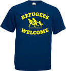 REFUGEES WELCOME Bring your families T-Shirt, dunkelblau