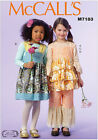 McCall's 7183 Sewing Pattern to MAKE Girls' Top Dress & Trousers