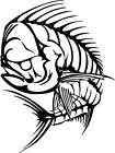 Mahi Fish Bones Fishing Bonefish Life Vinyl iPad eBook Kindle Decal Salt Art HD