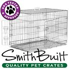 Silver Dog Cage Crate Kennel Pet Puppy Pen Stainless Steel Color Metal Tray Pan