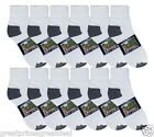 Wholesale Lots Knocker Cotton Ankle Socks White Black Tips Size 9-11 10-13