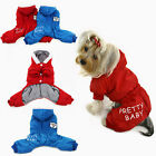Winter Hooded Dog Jumpsuit Padded Cotton Jacket Puppy Warm Clothes Coat WONPET