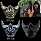 Costume Halloween Party Airsoft Skull Mask Motorcycle Skeleton Half Face Mask