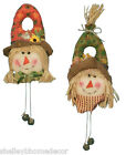 Scarecrow Plush Wall Hanging Wreath Decoration Fall Thanksgiving hh75409 NEW