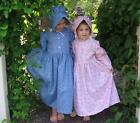 Girl size 8 10 12 14 old-fashioned Pioneer prairie dress & bonnet in stock