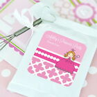 48 Personalized Pink Princess Hot Cocoa Mix Pouches Birth...
