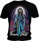 IRON FIST Unisex T Shirt Black ALTAR ME GOOD Roses Gothic All Sizes