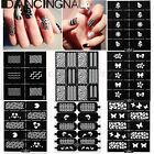 Stickers Pochoir Stamping Tampon Autocollant Ongle Gel UV Décal Nail Art Tips