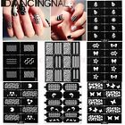 Stamp Sticker Pochoir Plaque Template Stamping Polish Vernis Ongle Déco Nail Art