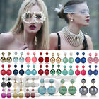 2016 NEW Design Women Lady Big Shiny Matte Double Side Pearl Ear Stud Earrings H