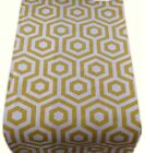 1 TABLE RUNNERS -made in HEX col SAFFRON yellow geometric -fully lined wedding