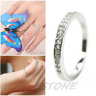 Fashion Silver Plated Simulated Diamond Girls Womens Ladies Dress Eternity Ring
