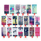 For Multi Phone Painted Deluxe Style Universal PU Leather Card Case Shabby Cover