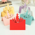12/24pcs Christmas Tree Meal Table Setting Name Place Card Wedding Party Decor